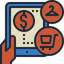 mobile, online, shopping, store, tablet icon