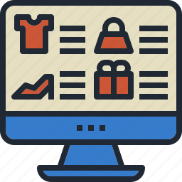 cloth, fashion, pc, shop, web, website icon