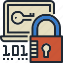 code, lock, security, web, website icon