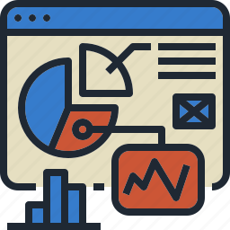 analysis, chart, rate, web, website icon