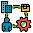 chain, distribution, management, supplier, supply icon