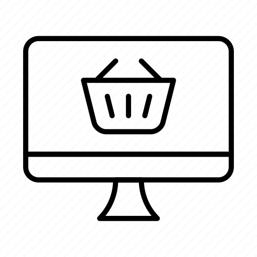 buy, ecommerce, imac, online, shipping, shop, shopping cart icon