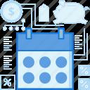 calendar, date, day, month, notification, reminder, schedule icon