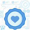 ecommerce, favorite, favourite, heart, label, medal, tag