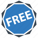 discount, free, shopping icon