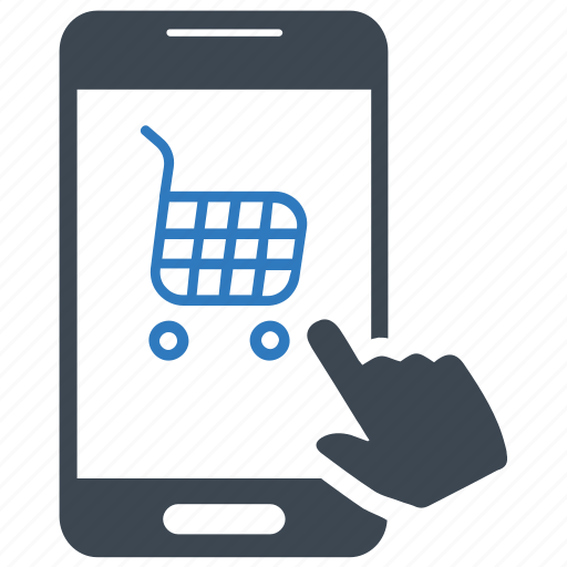 mobile, online, shopping icon