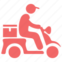 bike, courier, delivery, express shipping, food, pizza boy, shipping icon