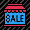 sale, store, ecommerce, shop, building