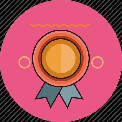 badge, circle, emblem, medal, pin icon