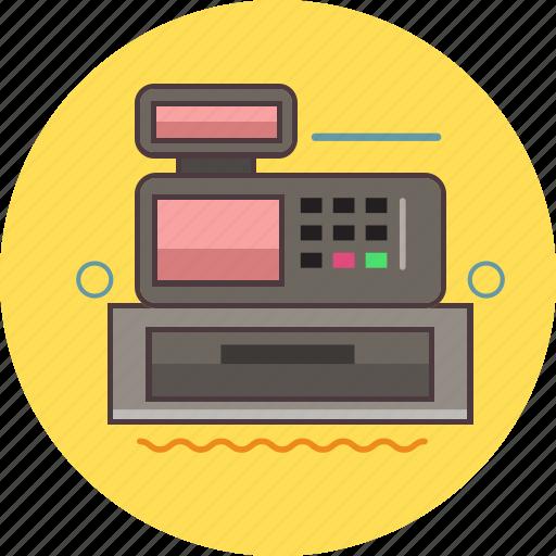 cashbox, cashier, finance, machine icon