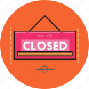board, closed icon