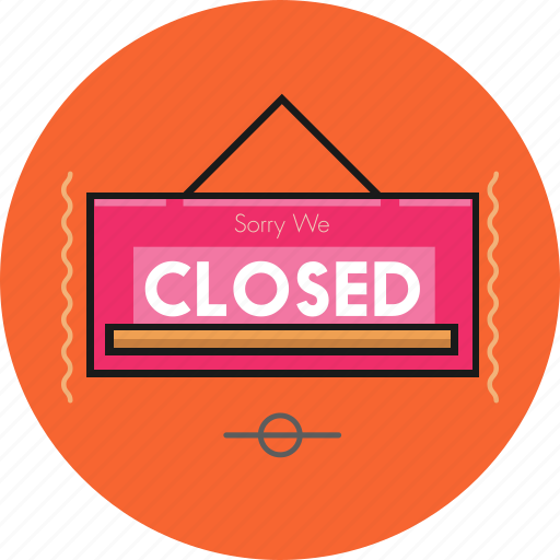 board, closed icon