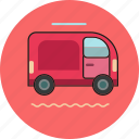 box, car, delivery, machine icon