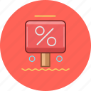 circle, discount, marketing, precent icon