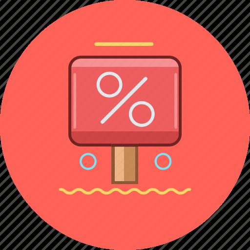circle, discount, marketing, precent icon