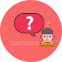 face, faq, help, idea icon