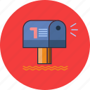 inbox, mailbox, message icon