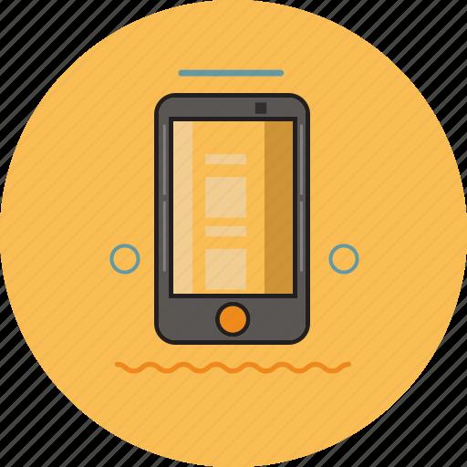 Electronic Handphone Hp Smartphone Icon