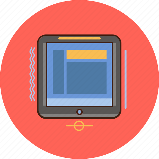 electronic, tablet, view icon
