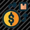 exchange, money, box, logistics