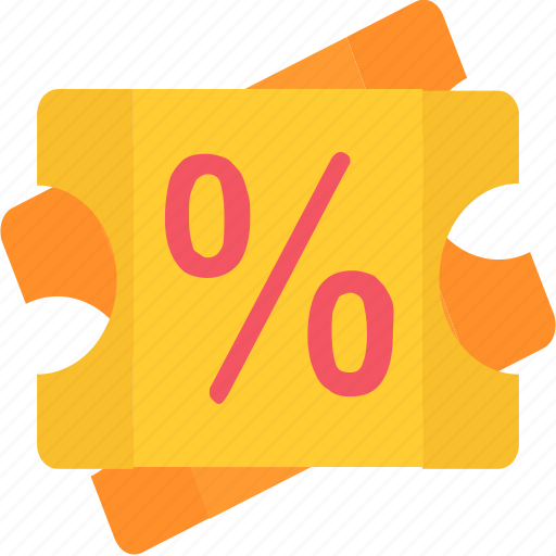 coupon, discount, e-commerce, ticket icon