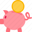 bank, e-commerce, money, piggy, savings icon