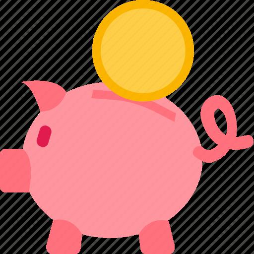 bank, e-commerce, money, piggy, savings icon