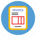 bill, ecommerce, invoice icon