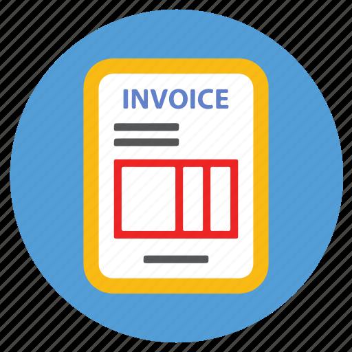 bill, ecommerce, invoice icon