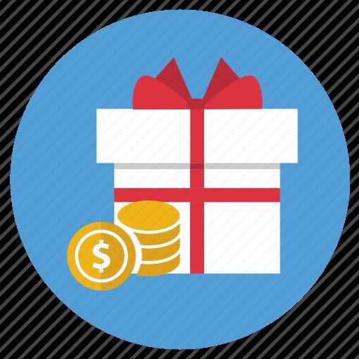 cashback, ecommerce, gift, present icon