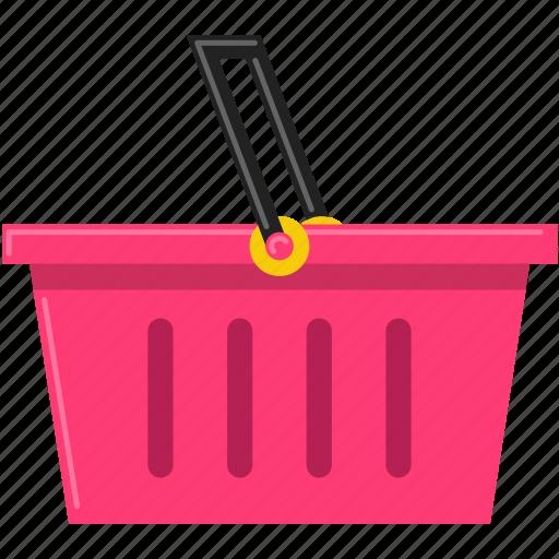 commerce, shopping basket, super market icon