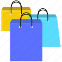 commerce, shopping, shopping bag icon