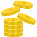 bank, coin, dollar, finance, money icon