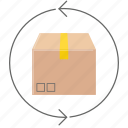 box, delivery, return, shipping, shopping icon