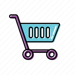 cart, grocery, wheel cart icon