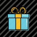 birthday, gift, girt card, wrap icon