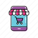 mobile, mobile shop, shop, shop app icon