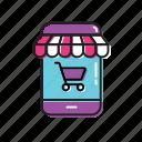 mobile, mobile shop, shop, shop app icon
