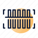 barcode, scanning icon