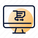 cart, computer, online, shopping icon