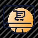 cart, computer, online, shopping