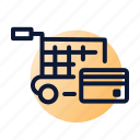 cart, check-out, credit card, shopping icon
