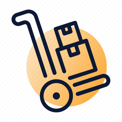 delivery, hub waggon, warehouse icon