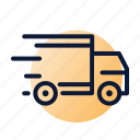 delivery, fast, sending, truck icon