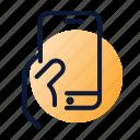 e-commerce, hand, mobile, smartphone icon