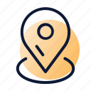 delivery, location, pin, tracking icon