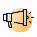 announcement, discount, megaphone, sale, season icon