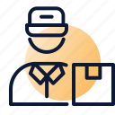delivery, parcel, postman icon