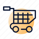basket, cart, check-out, shopping icon