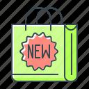 badge, bag, brand, commerce, e-commerce, new, shopping